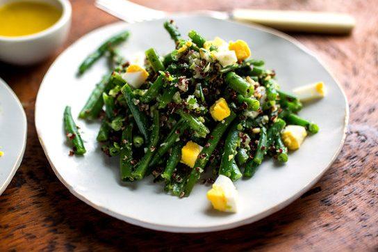 Green Bean Egg and Quinoa Salad